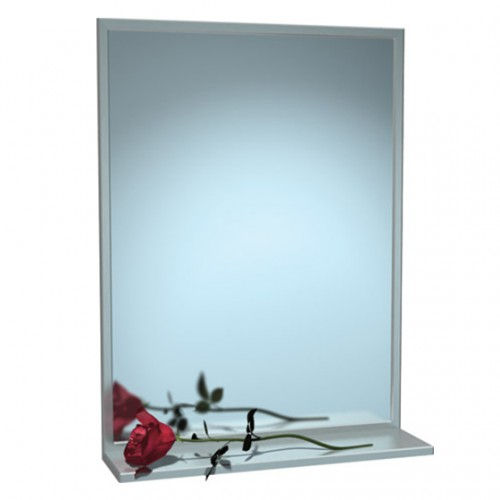 STAINLESS STEEL CHANNEL FRAME MIRROR WITH SHEL