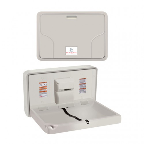 SURFACE MOUNTED HORIZONTAL BABY CHANGING STATION