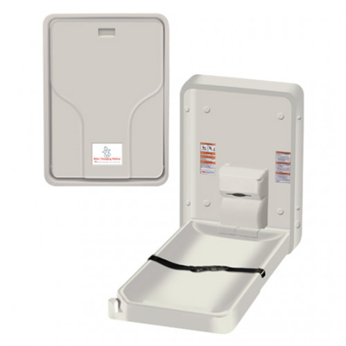 SURFACE MOUNTED VERTICAL BABY CHANGING STATION