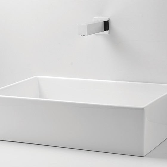 Quadrat square sink front view