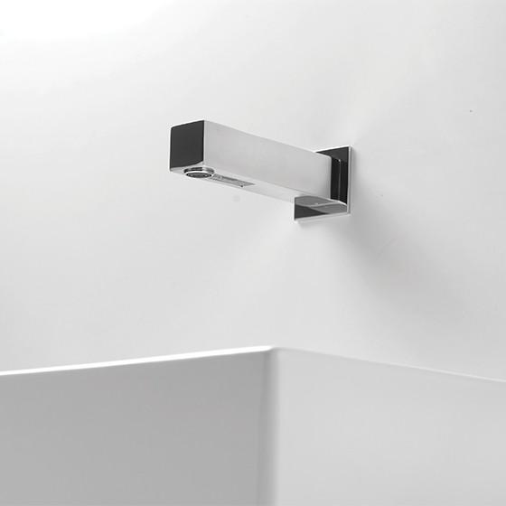 Quadrat square sink side bottom view