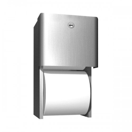 SURFACE MOUNTED DUAL ROLL TOILET TISSUE DISPENSER